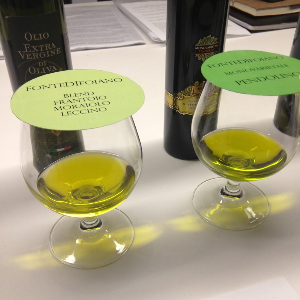 Olive oil tasting, Italy