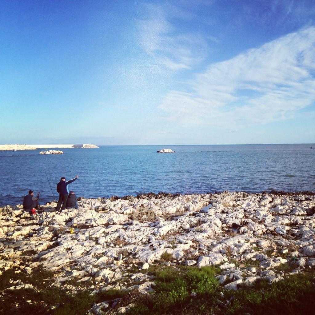 Old men and the sea. Puglia, Italy.