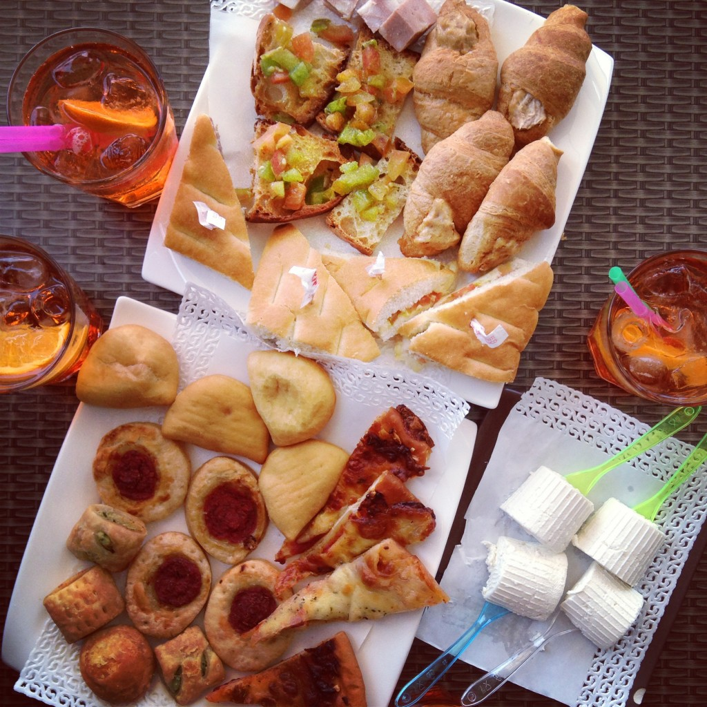 Italian aperitivo, on Ms. Adventures in Italy by Sara Rosso