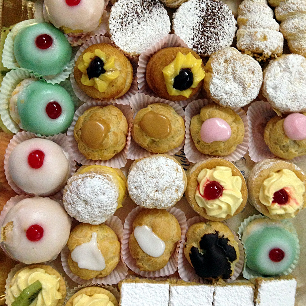 Pasticcini, Italian pastries, on Ms. Adventures in Italy by Sara Rosso